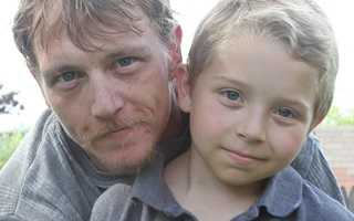 Tristan, diagnosed with LAL-D at 5 years old, with his father